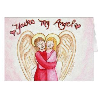 Usted es mi tarjeta de felicitación del ángel