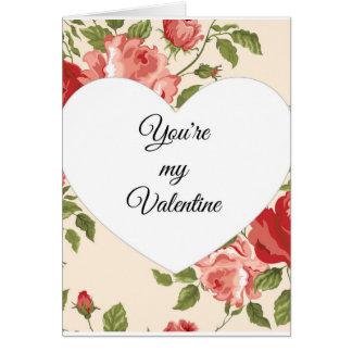 Usted es mi tarjeta de la tarjeta del día de San