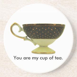 Usted es mi taza de práctico de costa del té posavaso para bebida