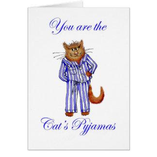 """Usted es pijamas los """"del gato"""", gato del jengibre tarjeta de felicitación"""