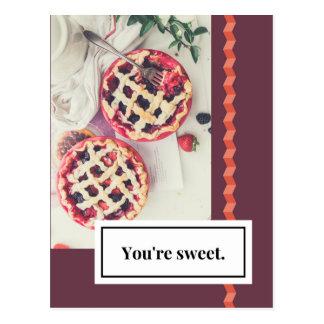 Usted es postal dulce del amor