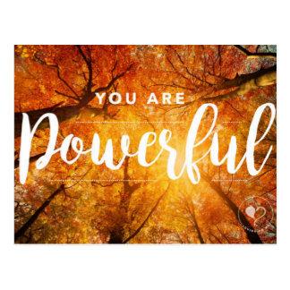 Usted es postales inspiradas potentes