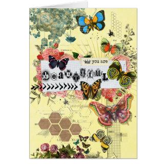 Usted es tarjeta de felicitación hermosa