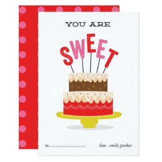 Usted es tarjeta dulce del el día de San Valentín Invitación 8,9 X 12,7 Cm