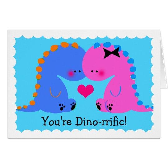 Usted es tarjeta linda dinorrific del dinosaurio