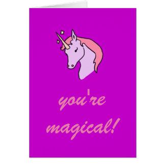 Usted es tarjeta mágica del el día de San Valentín