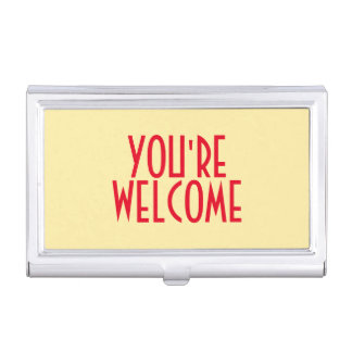Usted es tenedor agradable de la tarjeta de visita caja de tarjetas de negocios
