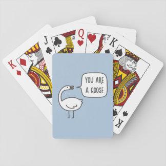 Usted es un ganso baraja de cartas