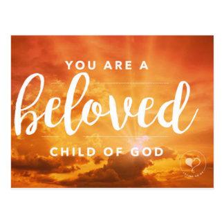 Usted es un niño querido de la postal de dios