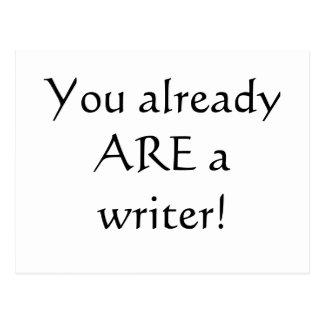 ¡Usted es ya escritor! Postal