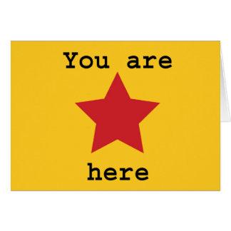 Usted está aquí tarjeta
