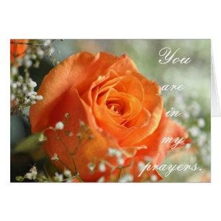 Usted está en mis rezos tarjeta de felicitación