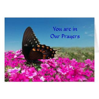 Usted está en nuestros rezos tarjeta de felicitación