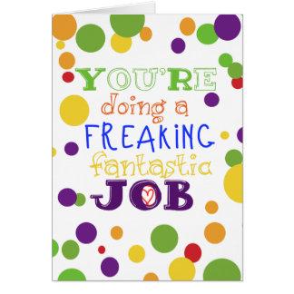 Usted está haciendo una tarjeta de trabajo
