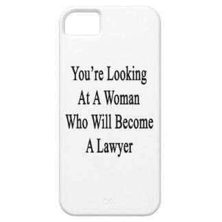Usted está mirando a una mujer que haga abogado iPhone 5 cárcasa