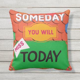 Usted faltará algún día hoy cita la almohada al
