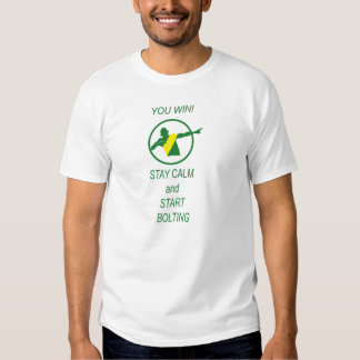 ¡Usted gana! Comience a empernar…. Camisetas