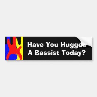 ¿Usted ha abrazado a un bajista hoy? Pegatina para Pegatina Para Coche