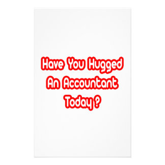 ¿Usted ha abrazado a un contable hoy? Papeleria De Diseño