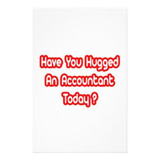 ¿Usted ha abrazado a un contable hoy? Papelería De Diseño