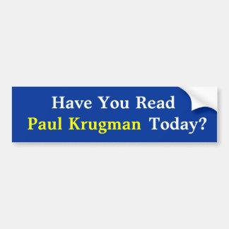 ¿Usted ha leído a Paul KrugmanToday? Pegatina para