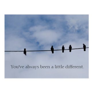 Usted ha sido siempre postal un poco diversa
