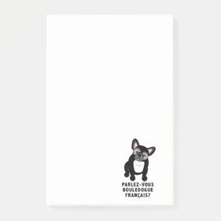 Usted habla el dogo francés lindo notas post-it®