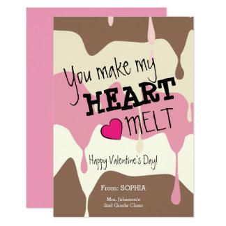 Usted hace mi tarjeta de la tarjeta del día de San Invitación 8,9 X 12,7 Cm