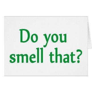 Usted huele eso tarjeta