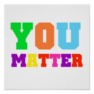 Usted importa los colores del arco iris póster