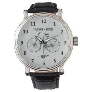 Usted más la bicicleta iguala el gris blanco de la relojes