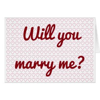 """""""Usted me casará?"""" + Porciones de pequeñas formas Tarjeta De Felicitación"""