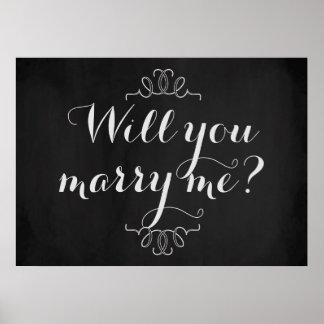 ¿Usted me casará? Poster de la pizarra del Póster