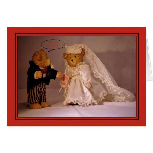 ¿Usted me casará? Propuesta de matrimonio. Casar e Felicitación