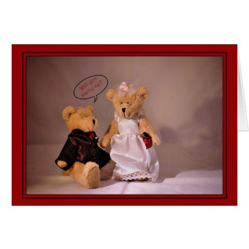¿Usted me casará? Propuesta de matrimonio. Casar e Tarjetas