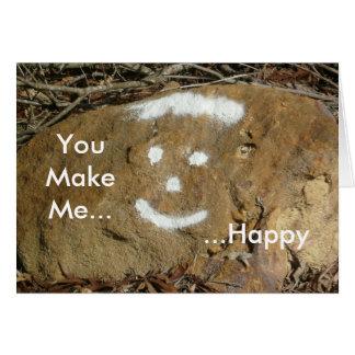 Usted me hace la tarjeta de cara feliz