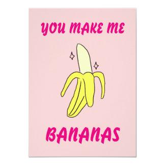 Usted me hace plátanos la tarjeta de la tarjeta