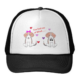 Usted me tenía en el gorra del beagle del tejido