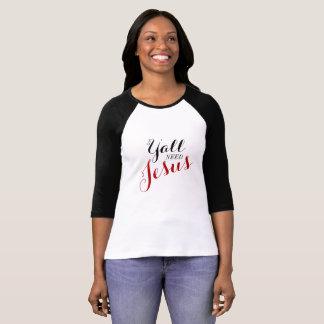 Usted necesita a Jesús - camiseta del béisbol