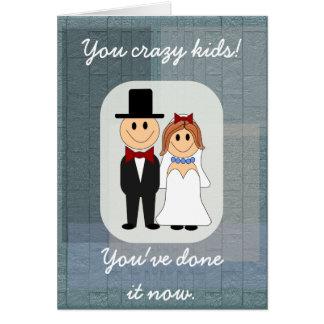 Usted niños locos -- invitación de boda tarjeta de felicitación