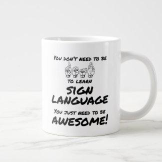 Usted no necesita ser sordo aprender la taza del