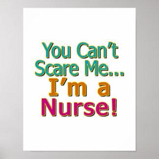 Usted no puede asustarme, yo es enfermera, diverti poster