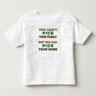 Usted no puede escoger a su familia divertida camiseta de bebé