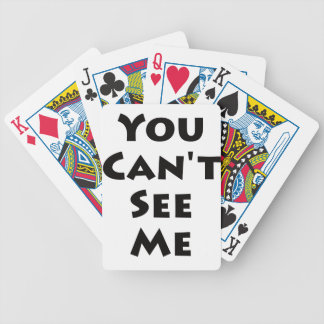 ¡Usted no puede verme! Baraja Cartas De Poker