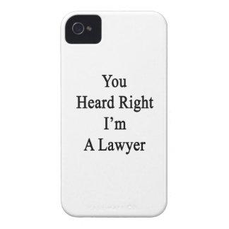 Usted oyó que a la derecha soy abogado Case-Mate iPhone 4 fundas