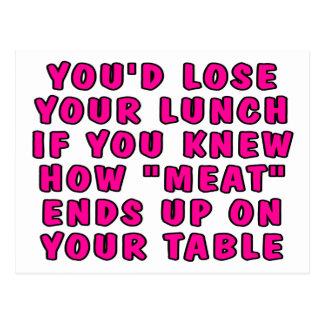 Usted perdería su almuerzo si usted sabía carne… postal