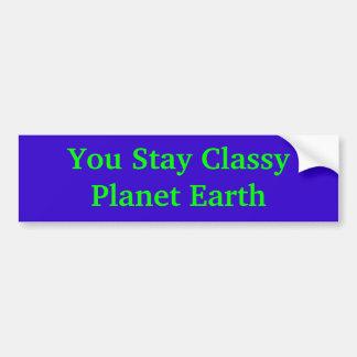 Usted permanece la tierra con clase del planeta pegatina para coche