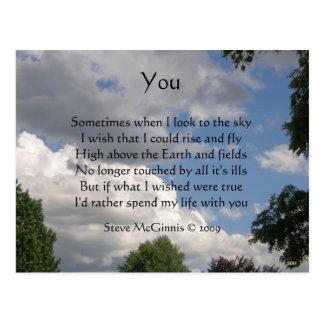 Usted postal del poema