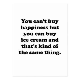 Usted puede comprar helado tarjeta postal
