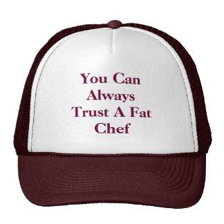 Usted puede confiar en siempre a un cocinero gordo gorras